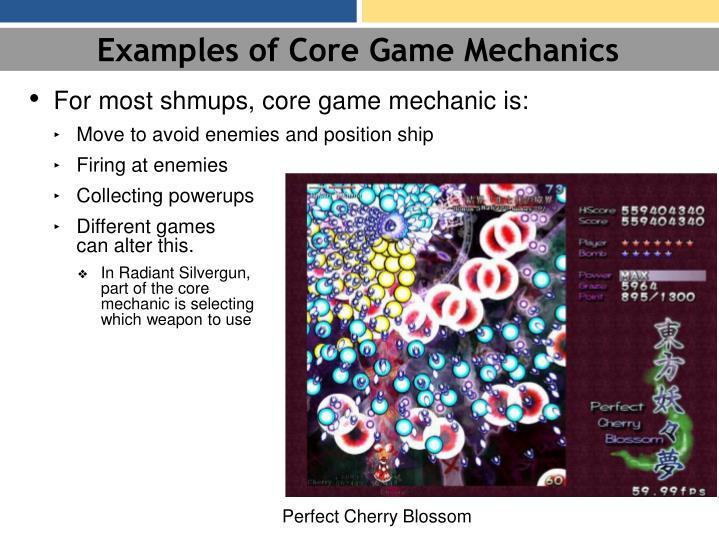 Examples of Core Game Mechanics