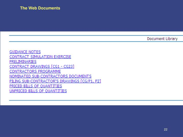 The Web Documents