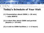 today s schedule of your visit