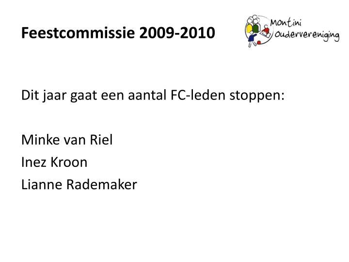 Feestcommissie 2009-2010