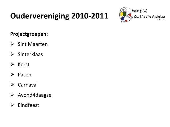 Oudervereniging 2010-2011
