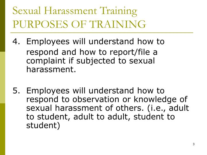 Sexual harassment powerpoint presentation
