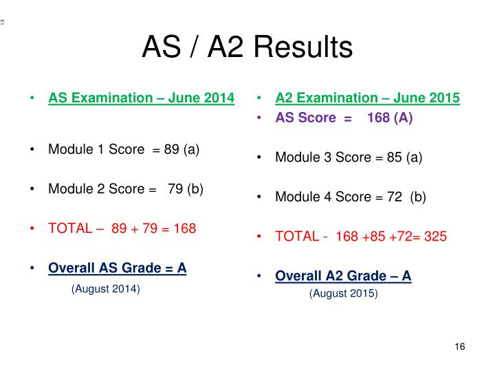 AS / A2 Results