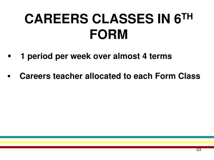CAREERS CLASSES IN 6
