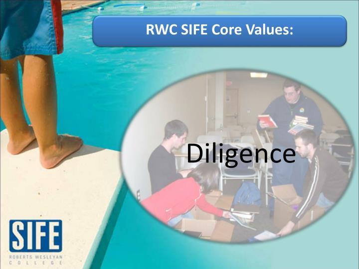 RWC SIFE Core Values: