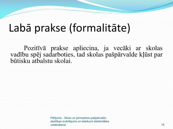 Labā prakse (formalitāte)