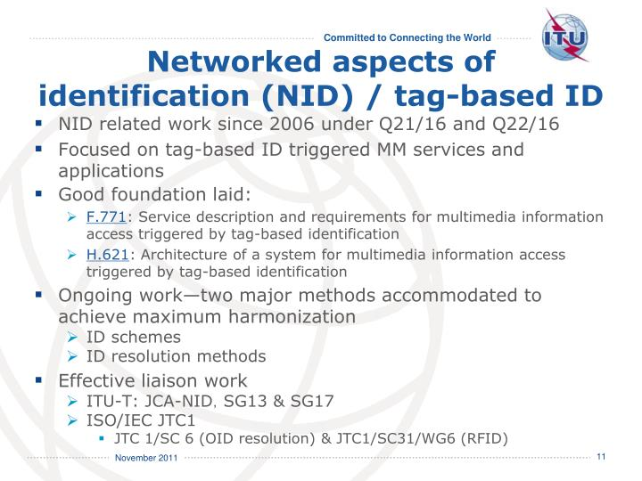 Networked aspects of