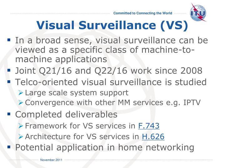 Visual Surveillance (VS)
