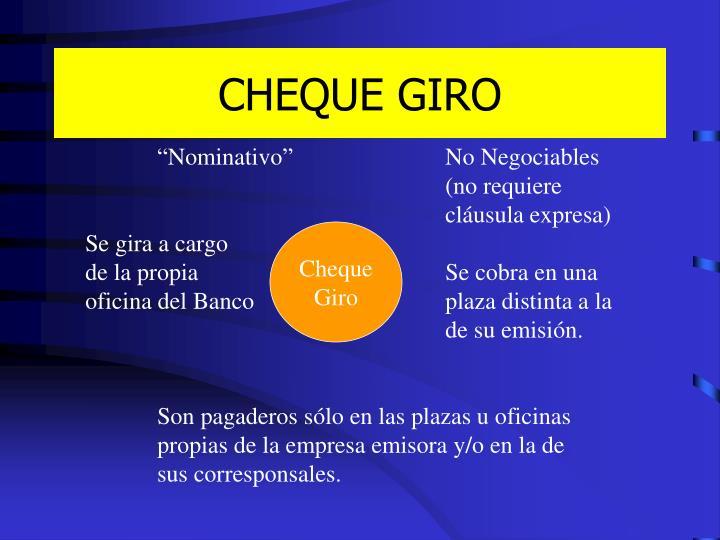 CHEQUE GIRO
