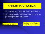 cheque post datado
