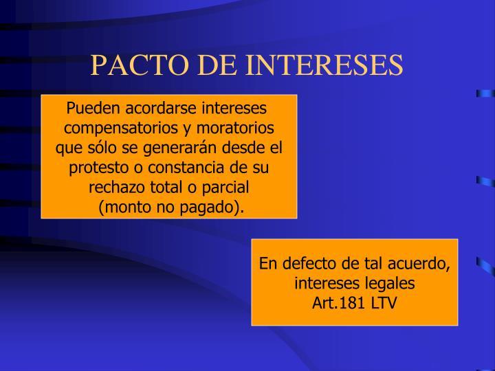 PACTO DE INTERESES