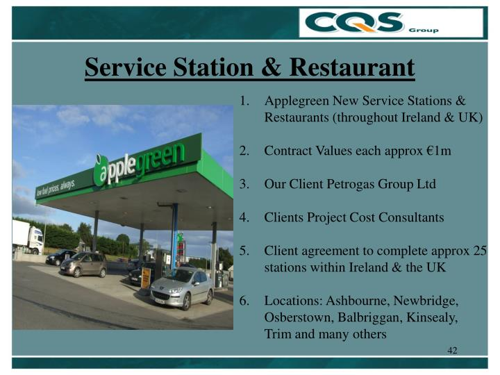 Service Station & Restaurant