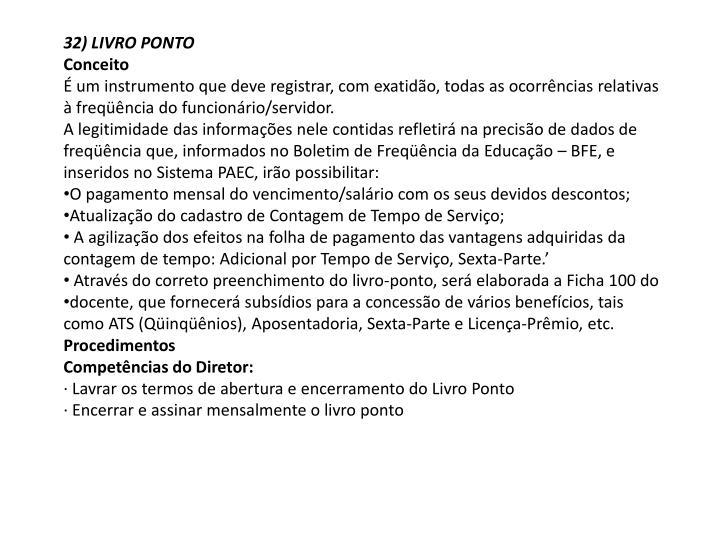 32) LIVRO PONTO