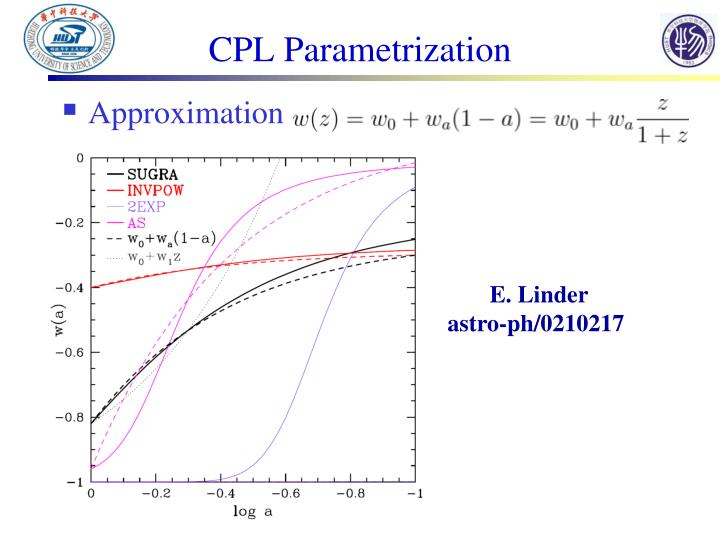 CPL Parametrization