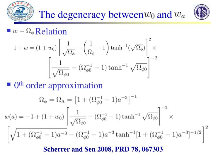 The degeneracy between     and