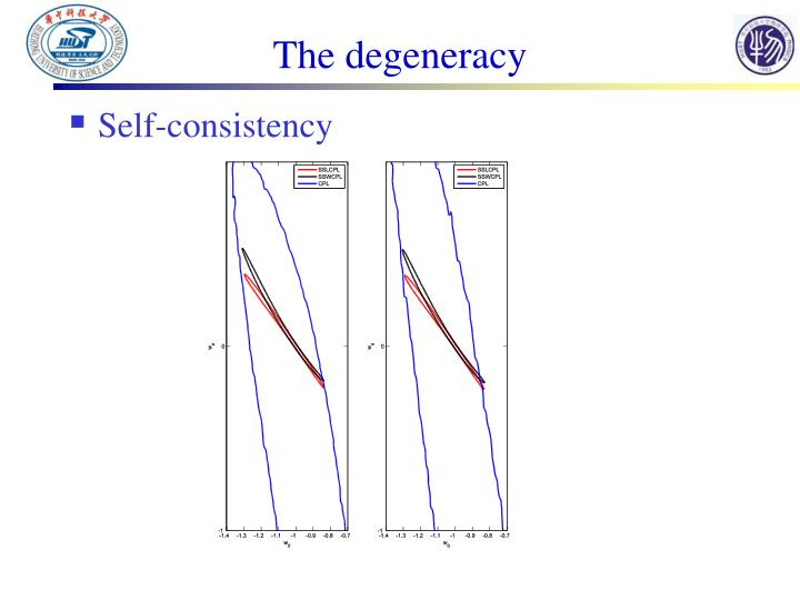 The degeneracy