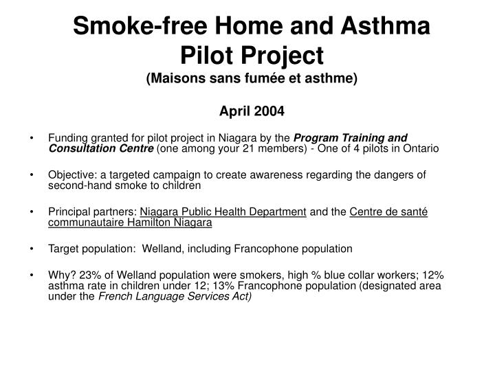 Smoke-free Home and Asthma