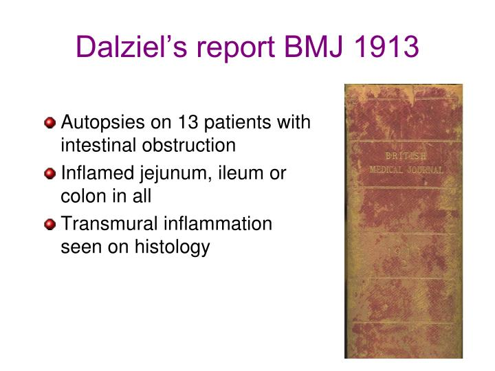 Dalziel's report BMJ 1913