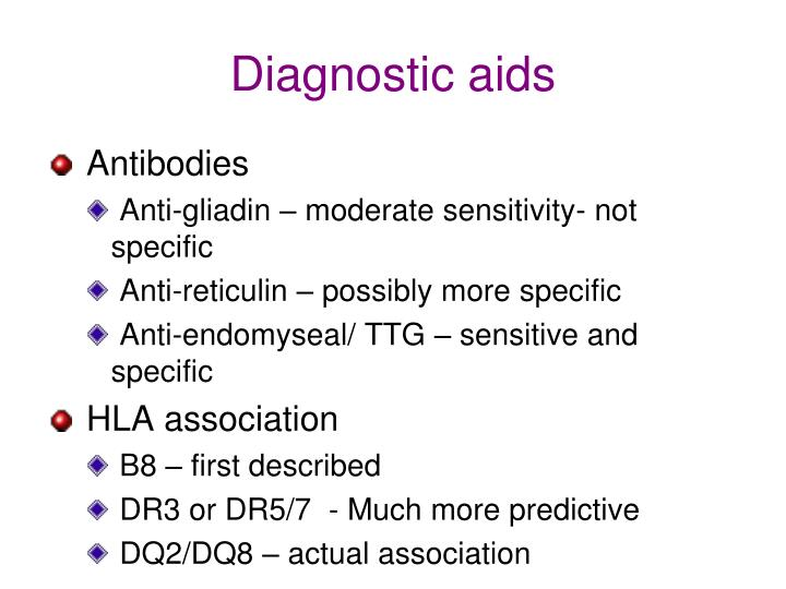 Diagnostic aids