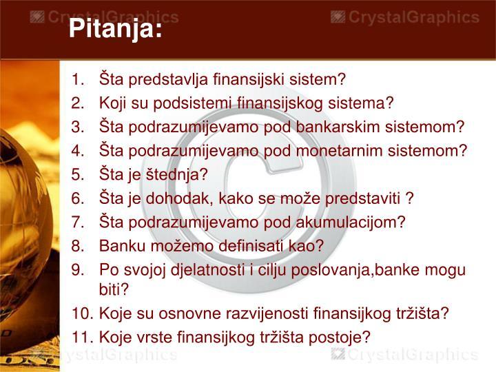 Pitanja: