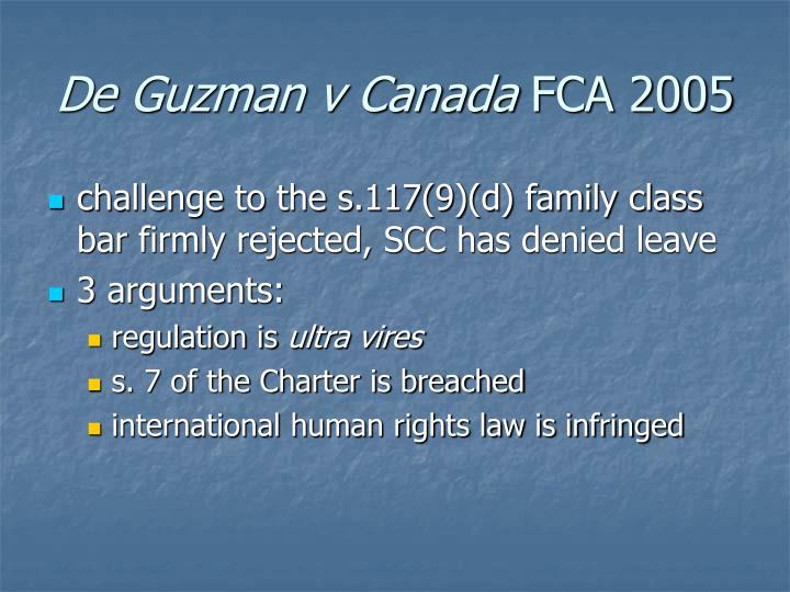 De Guzman v Canada