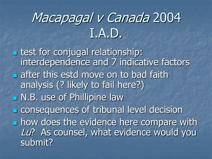 Macapagal v Canada