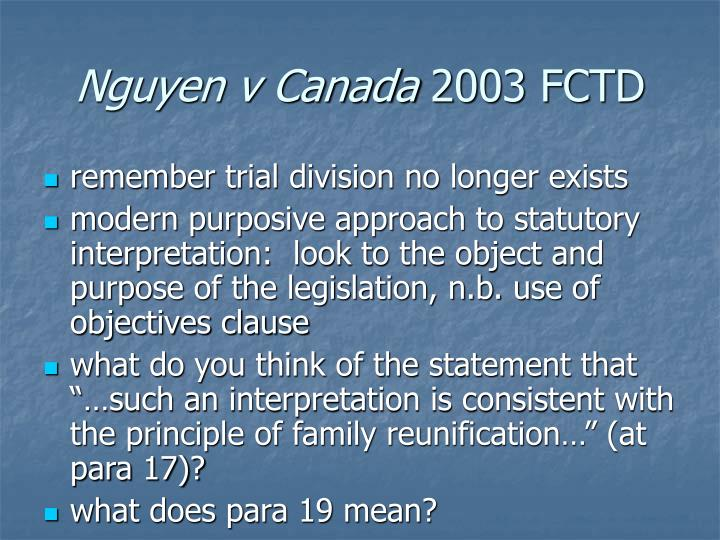 Nguyen v Canada