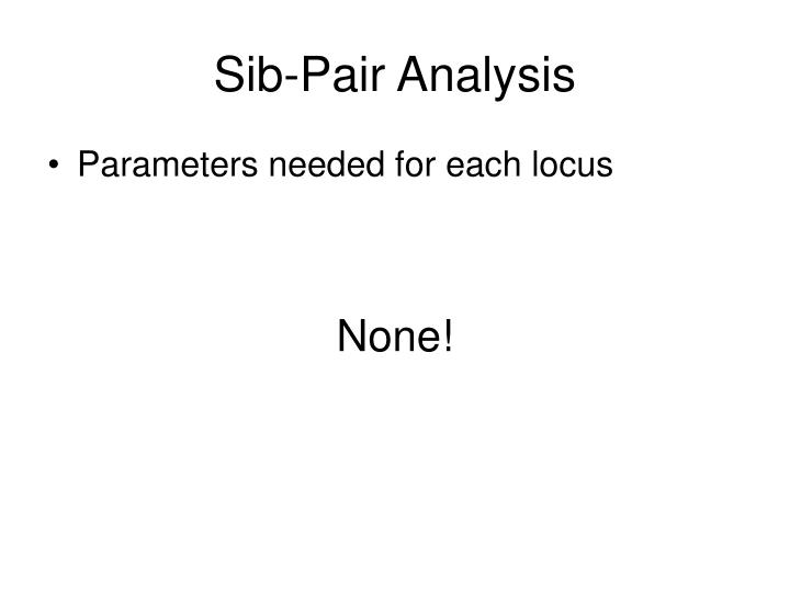 Sib-Pair Analysis