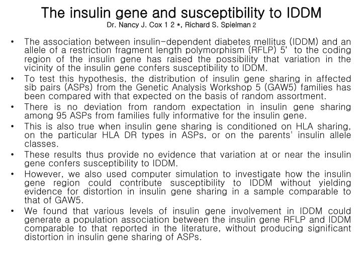 The insulin gene and susceptibility to IDDM