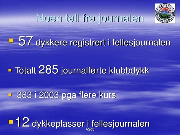 Noen tall fra journalen