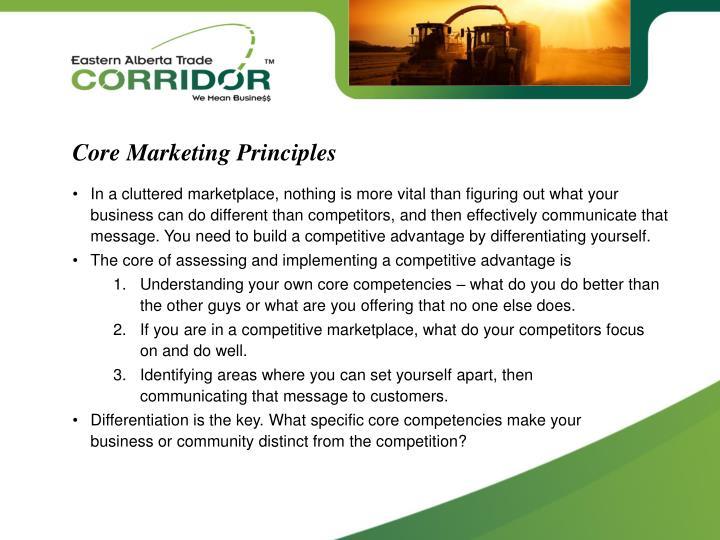 Core Marketing Principles