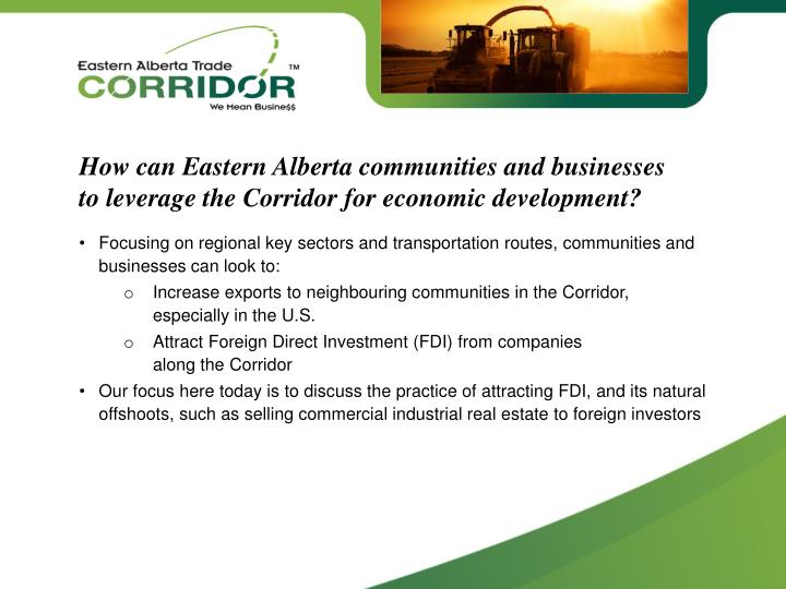 How can Eastern Alberta communities and businesses