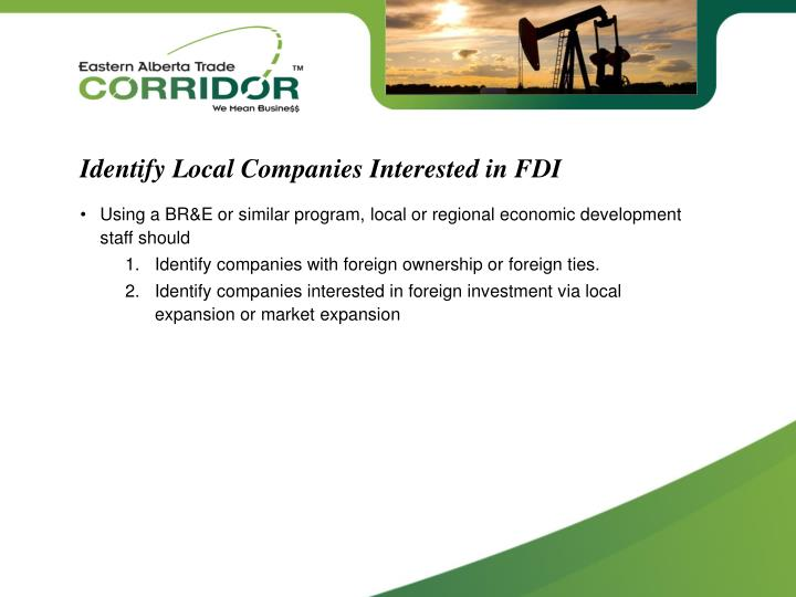 Identify Local Companies Interested in FDI