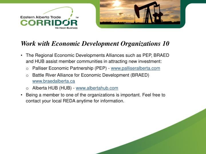 Work with Economic Development Organizations 10