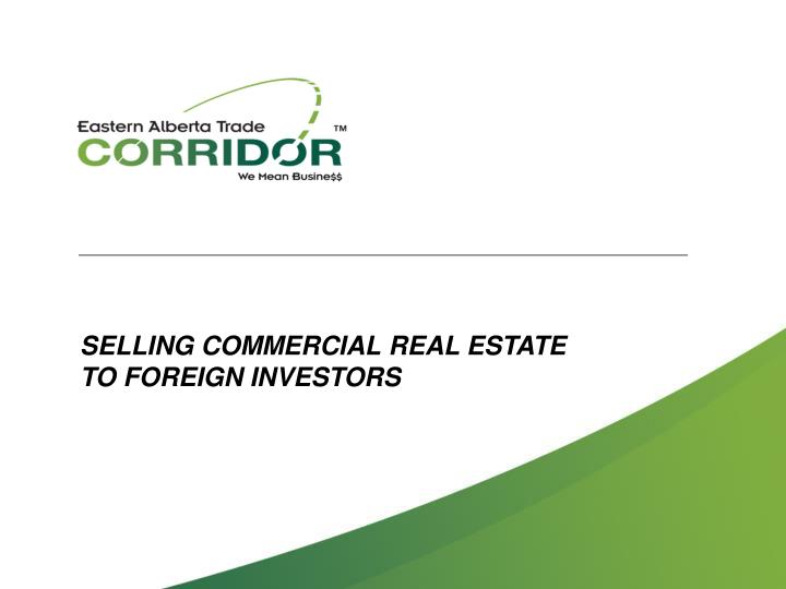 SELLING COMMERCIAL REAL ESTATE