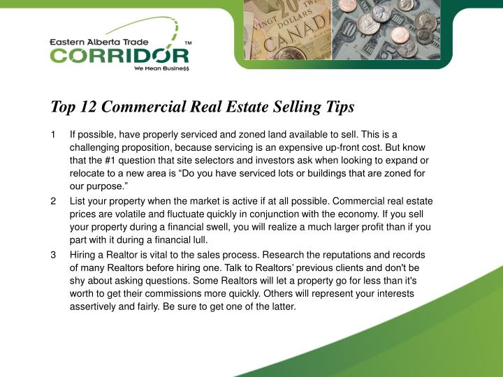 Top 12 Commercial Real Estate Selling Tips