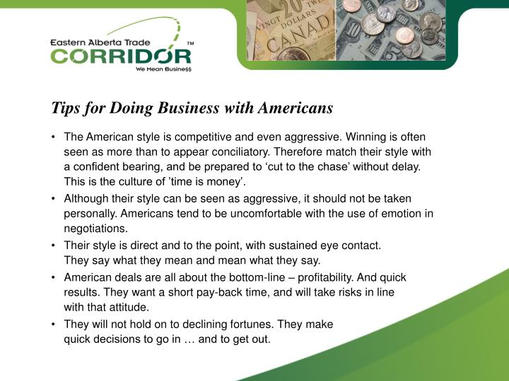 Tips for Doing Business with Americans