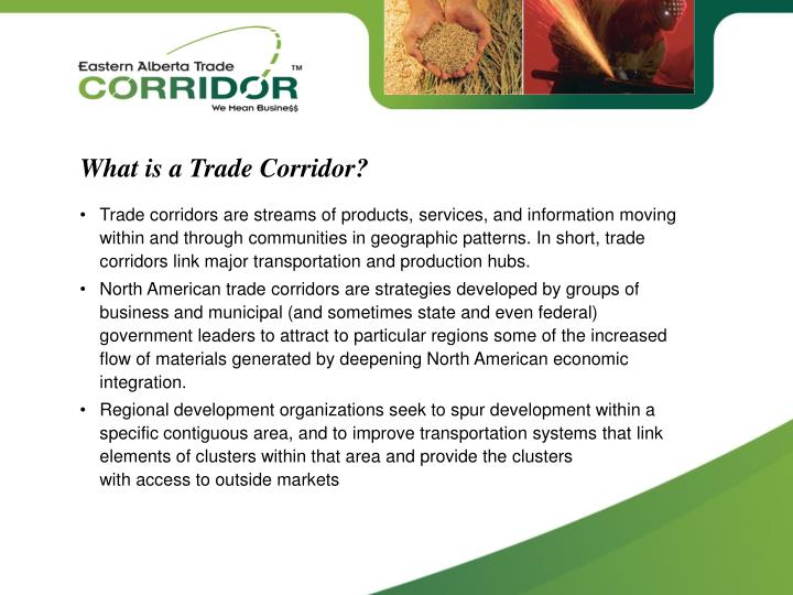 What is a Trade Corridor?
