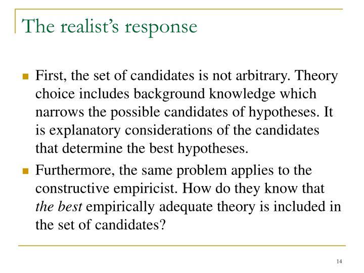 The realist's response
