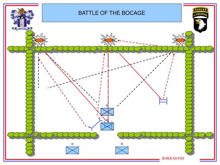 BATTLE OF THE BOCAGE