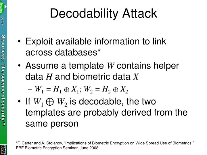 Decodability Attack