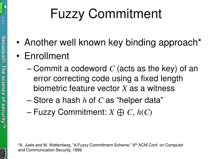 Fuzzy Commitment