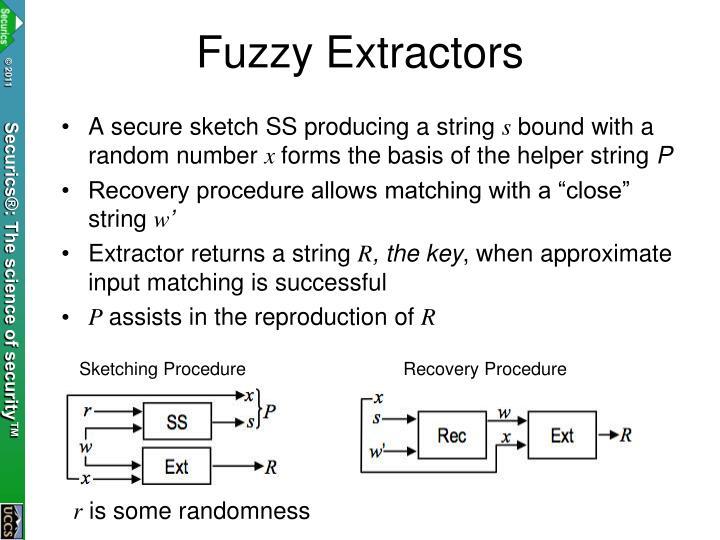 Fuzzy Extractors