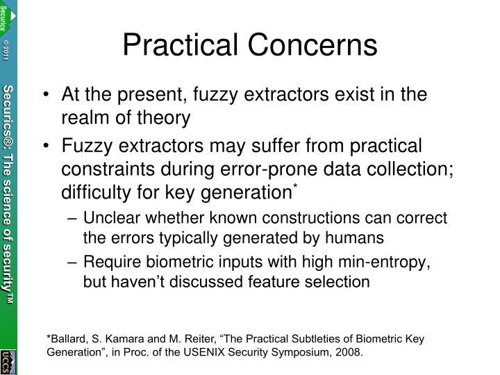 Practical Concerns