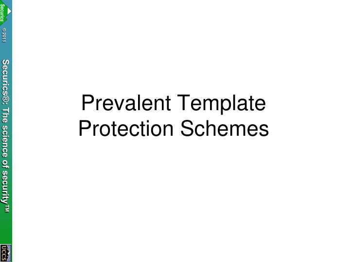 Prevalent Template Protection Schemes