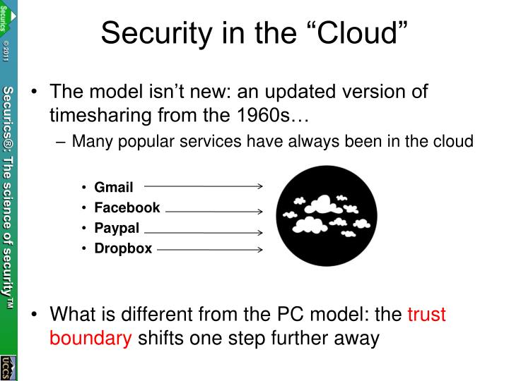 "Security in the ""Cloud"""