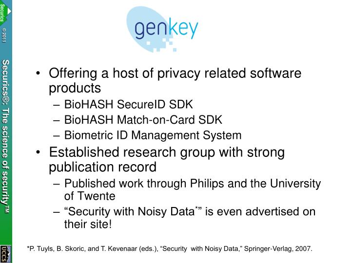 Offering a host of privacy related software products