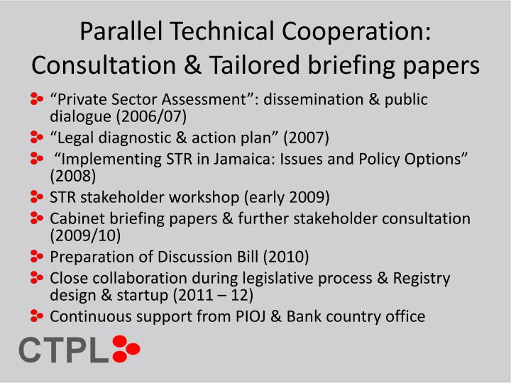 Parallel Technical Cooperation: