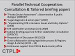 parallel technical cooperation consultation tailored briefing papers