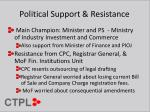 political support resistance